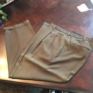 Perry Ellis brown pleated slacks 38x30